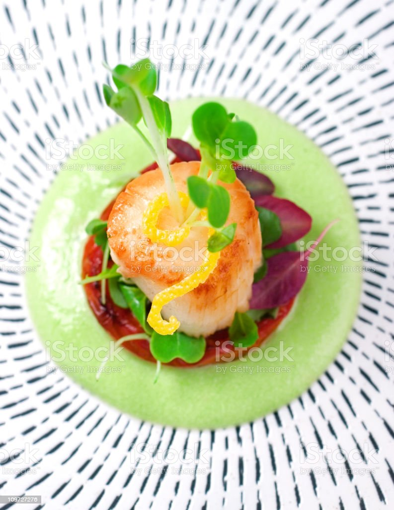 Scallop Appetizer royalty-free stock photo