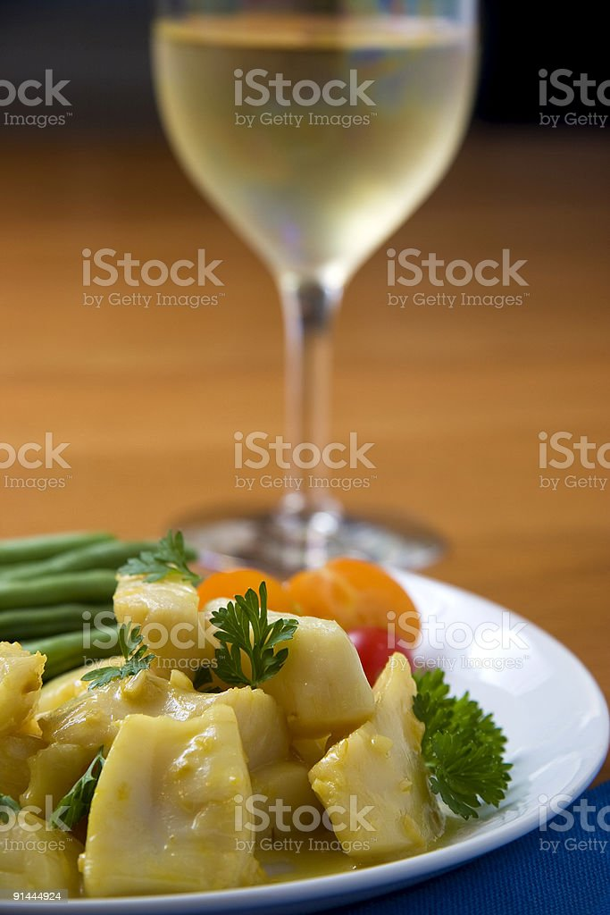 Scallop dinner royalty-free stock photo