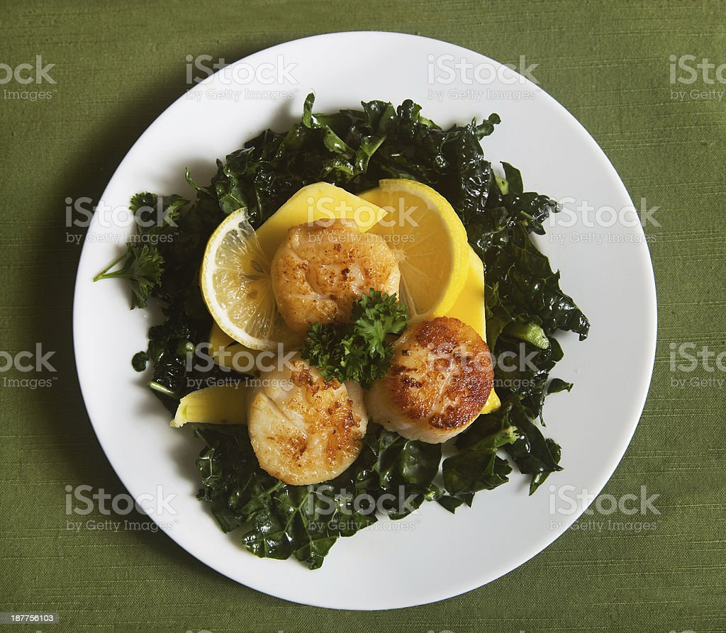 scallop dish royalty-free stock photo