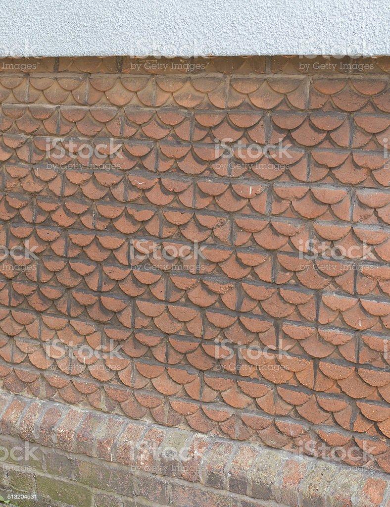 Scallop Shaped Bricks stock photo