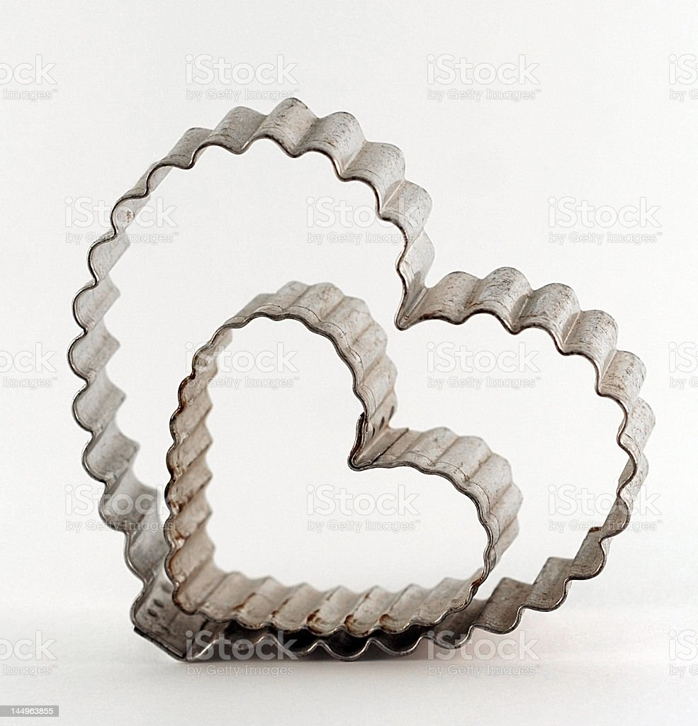 scalloped heart cookie cutters royalty-free stock photo