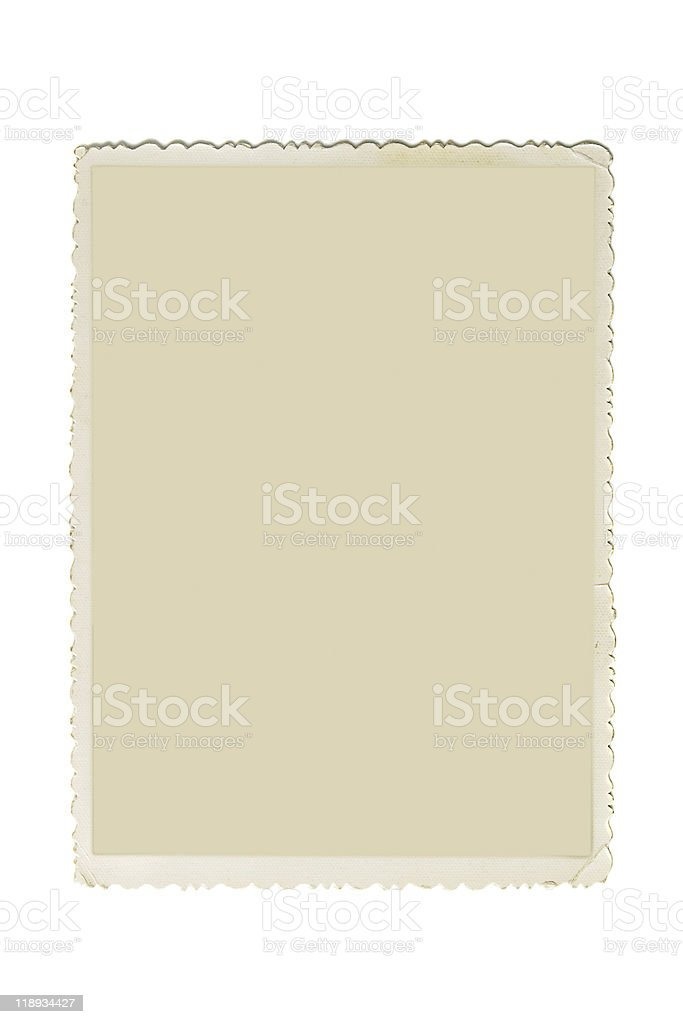 Scalloped retro photo frame stock photo