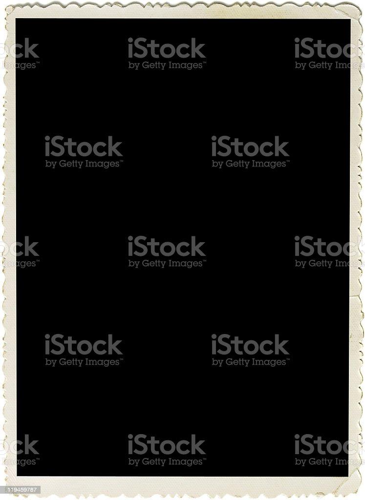 Scalloped retro photo frame stock photo