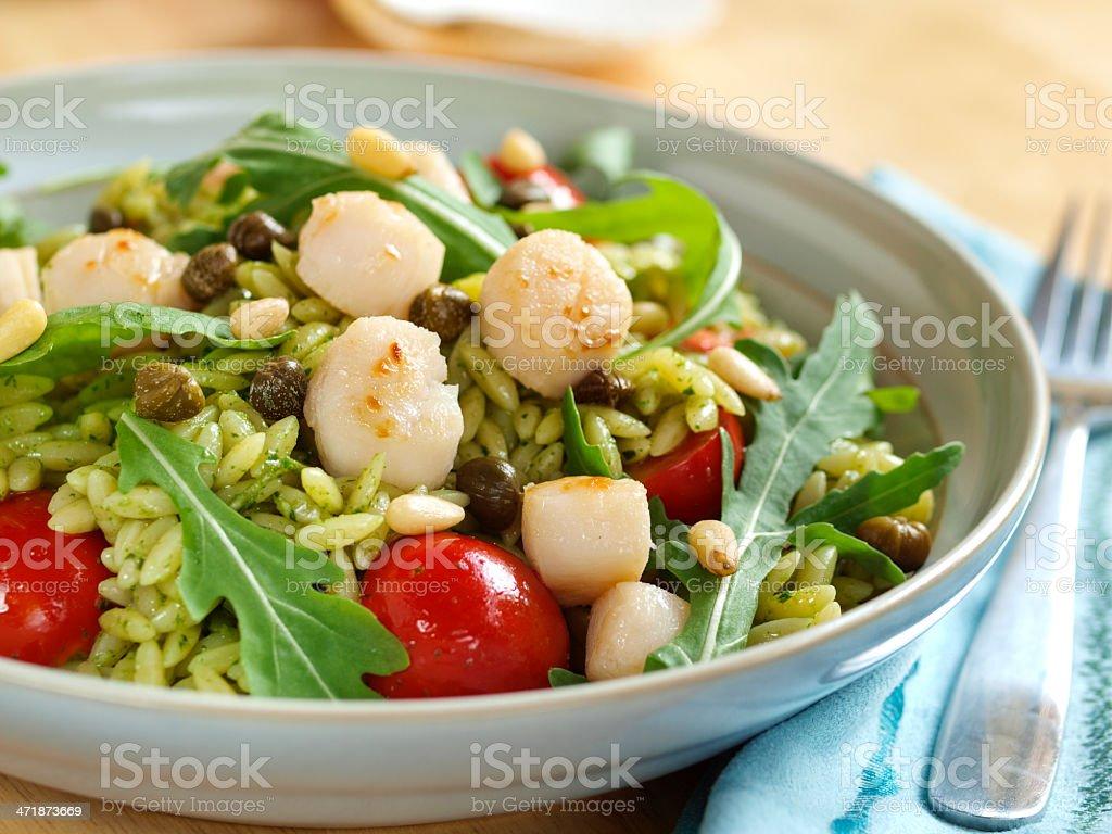 Scallop&Orzo salad royalty-free stock photo