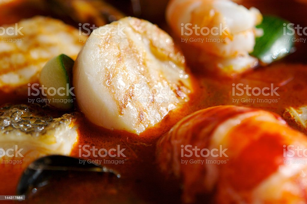 Scallops close-up stock photo