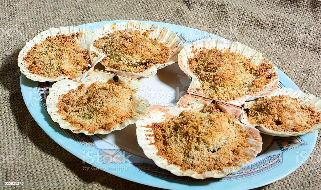 scallops fine cuisine stock photo