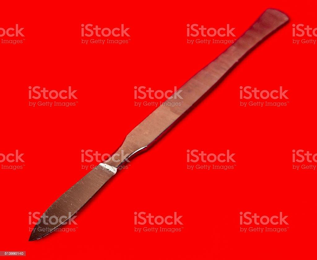 scalpel isolated stock photo