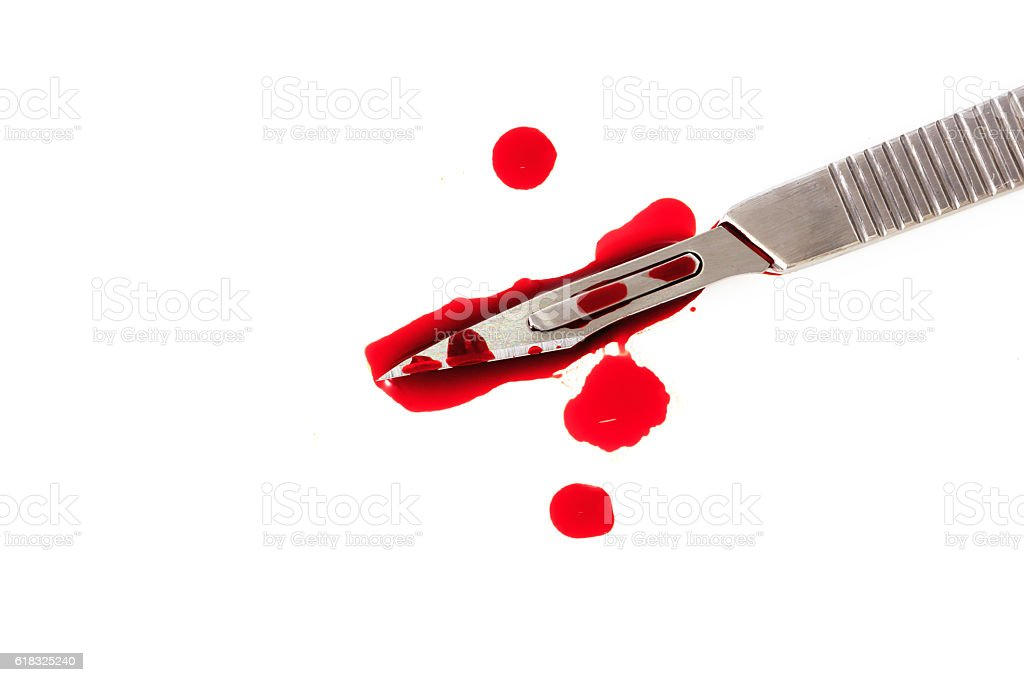 scalpel, surgical knife stock photo