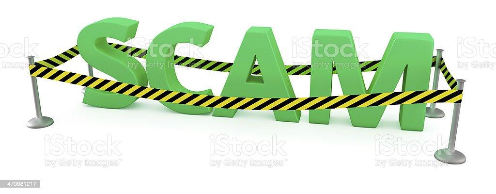 Scam area stock photo