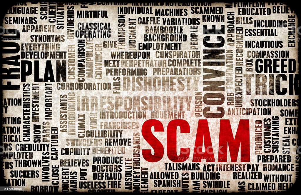 Scam stock photo