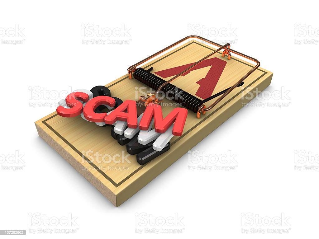 Scam trap royalty-free stock photo