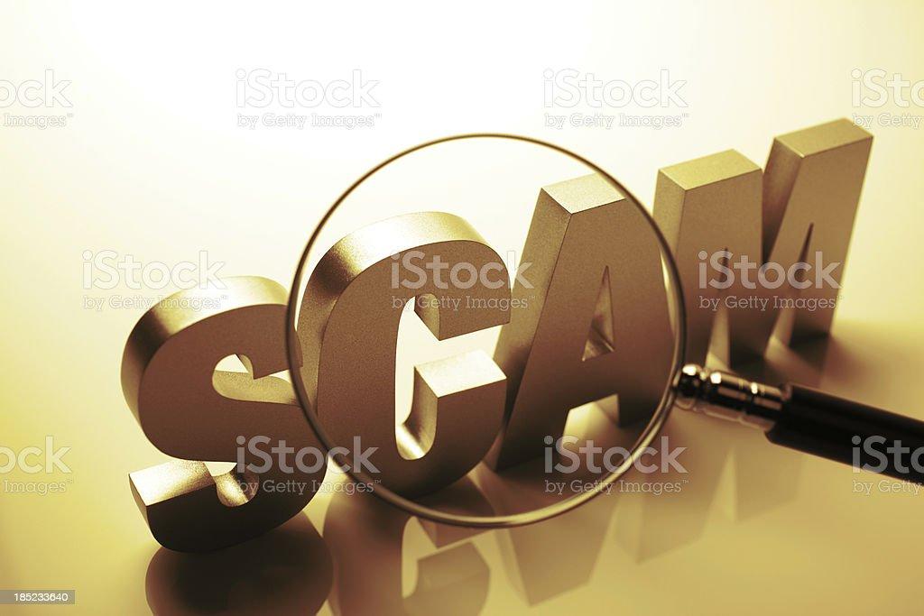 Scam Under Investigation stock photo