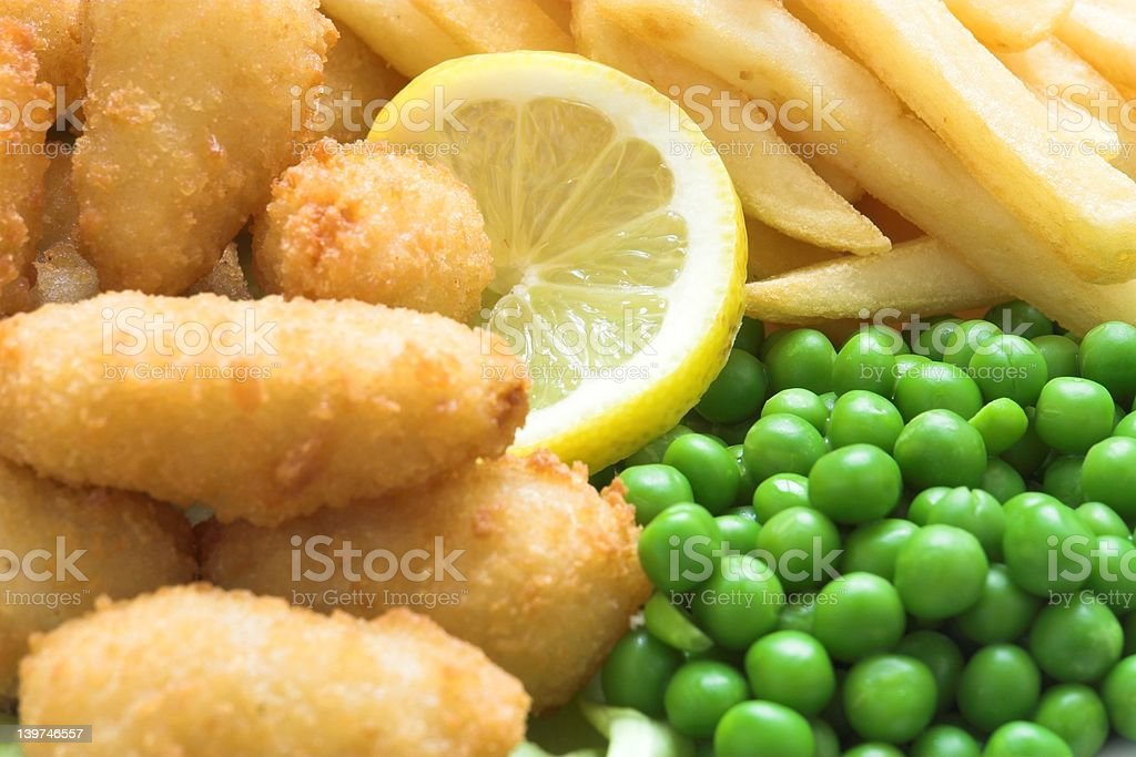 Scampi and Chips royalty-free stock photo