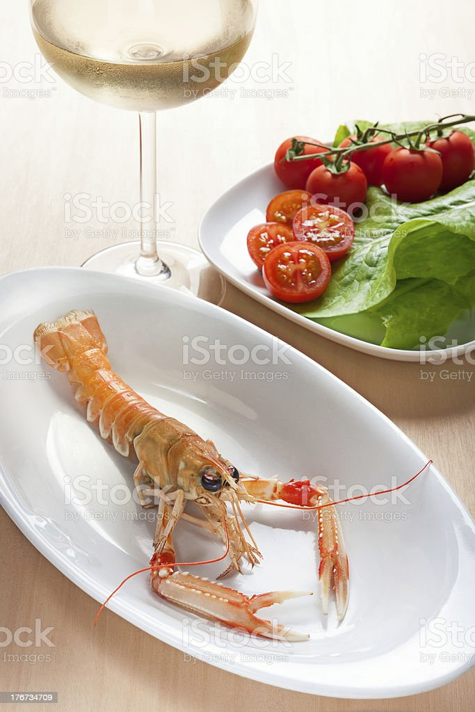 Scampi on a plate royalty-free stock photo