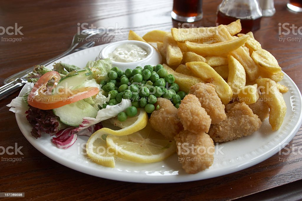 Scampi pub lunch royalty-free stock photo