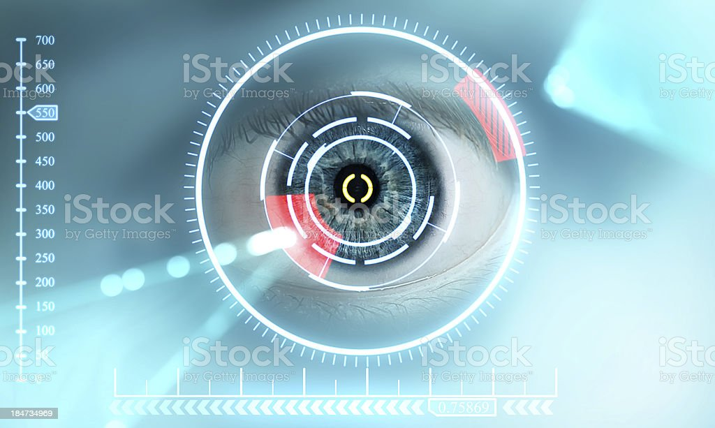 scan eye stock photo