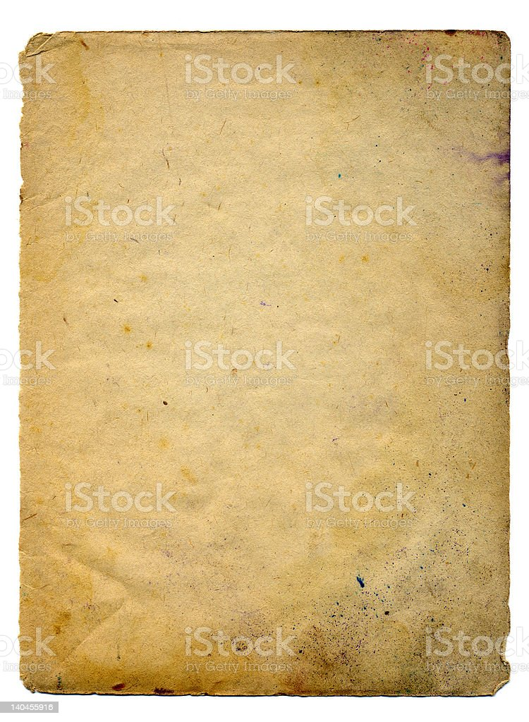 Scan of Old paper royalty-free stock photo