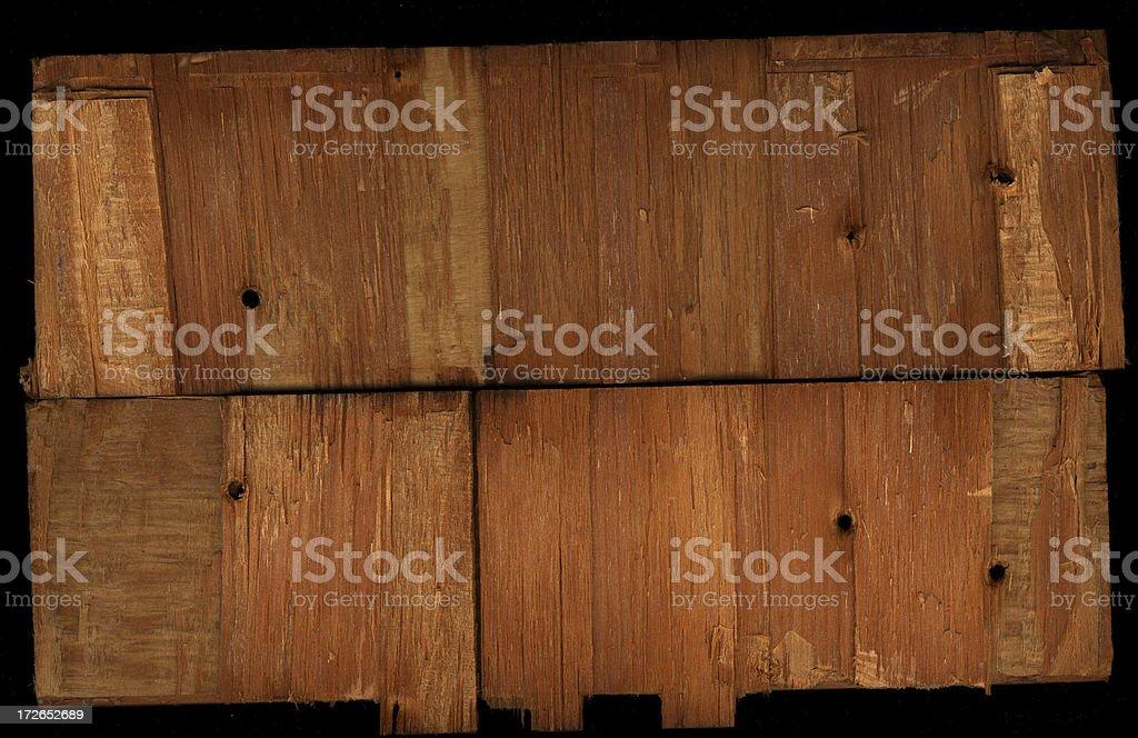 scan of rough split wooden stick stock photo