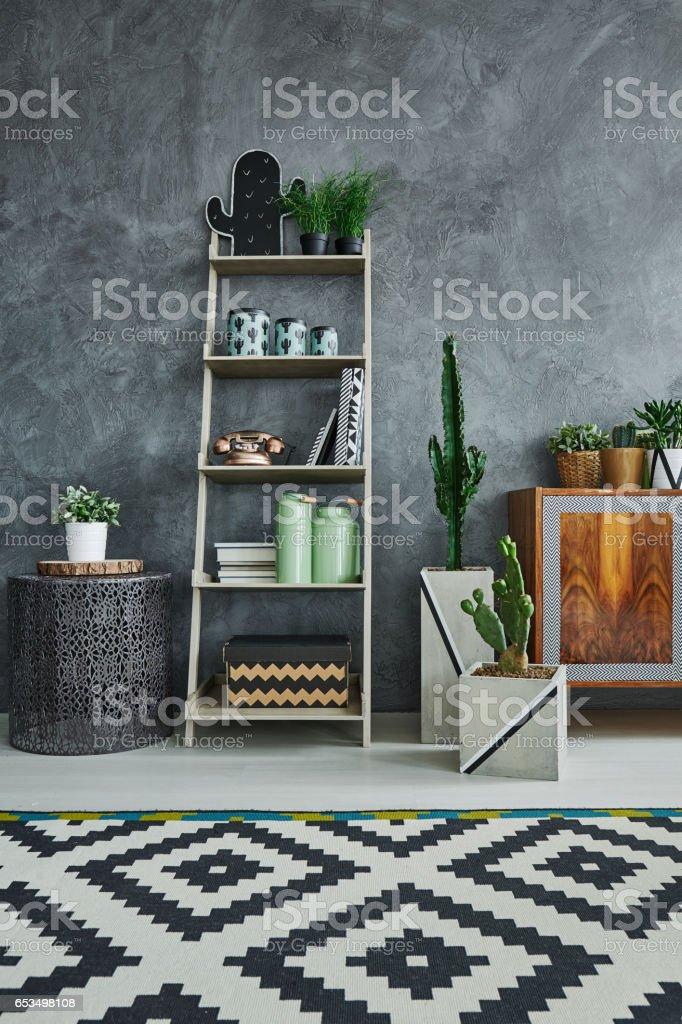 Scandi studio flat stock photo