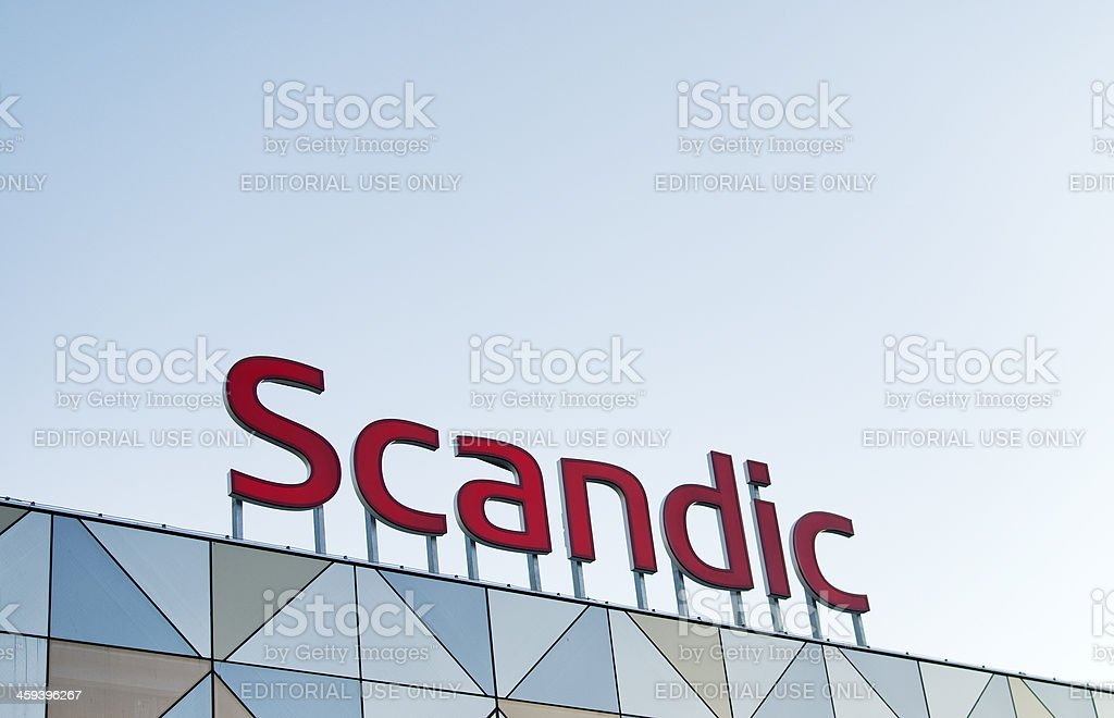 Scandic Hotels Sign stock photo