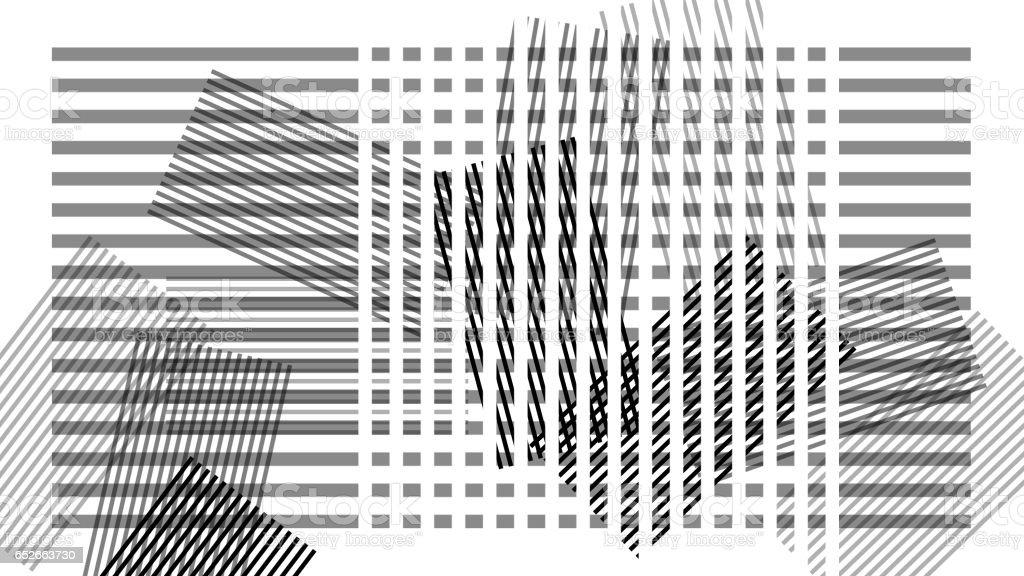 Scandinavian abstract design, stripes on white background, geometric modern art stock photo
