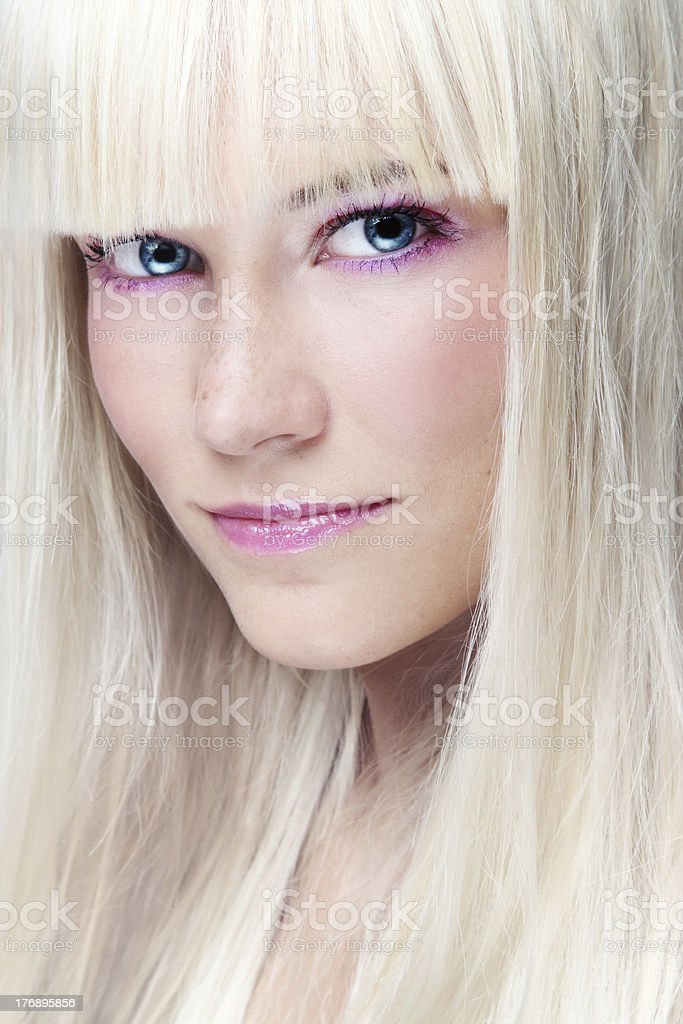 Scandinavian blonde stock photo