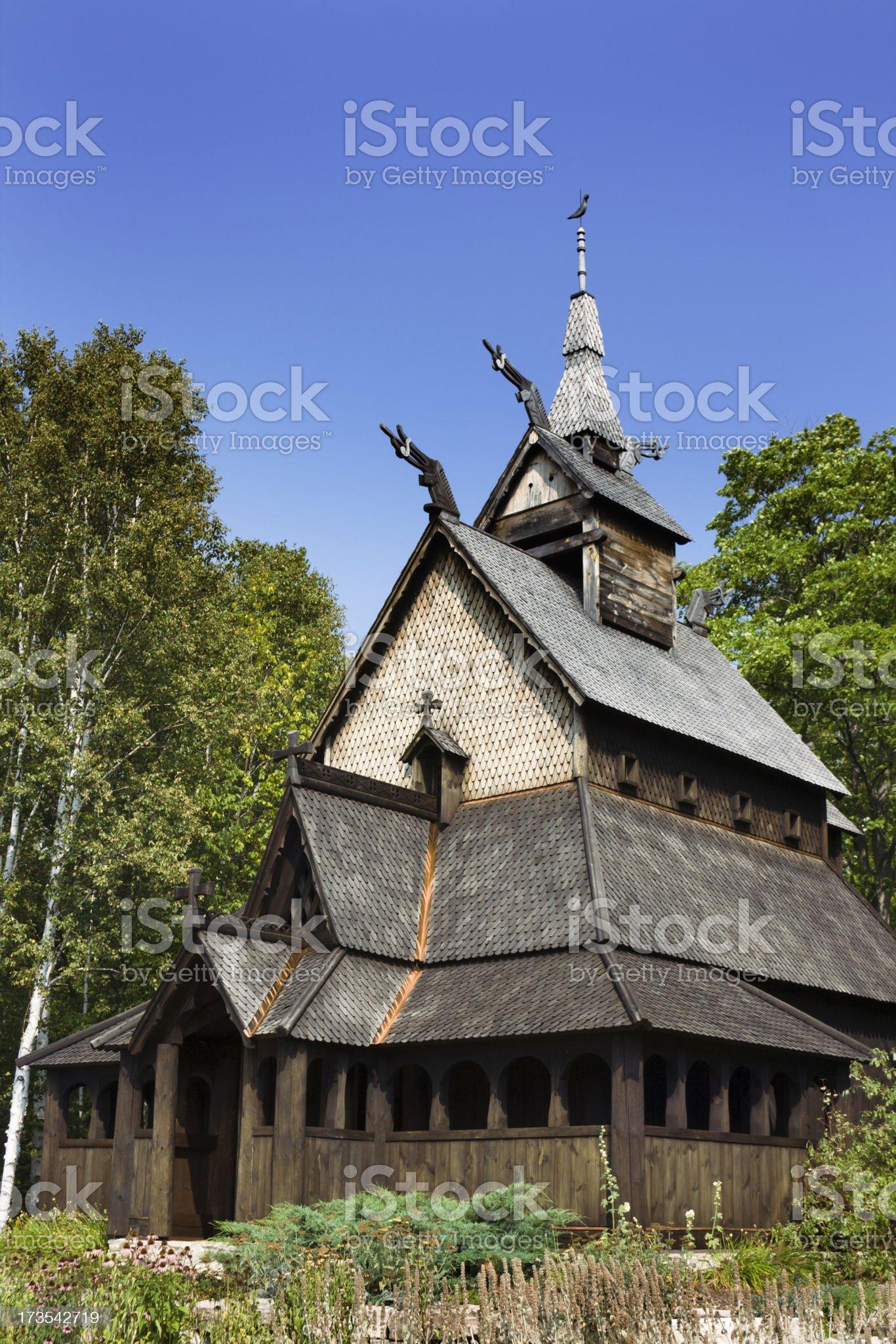 Scandinavian Church royalty-free stock photo