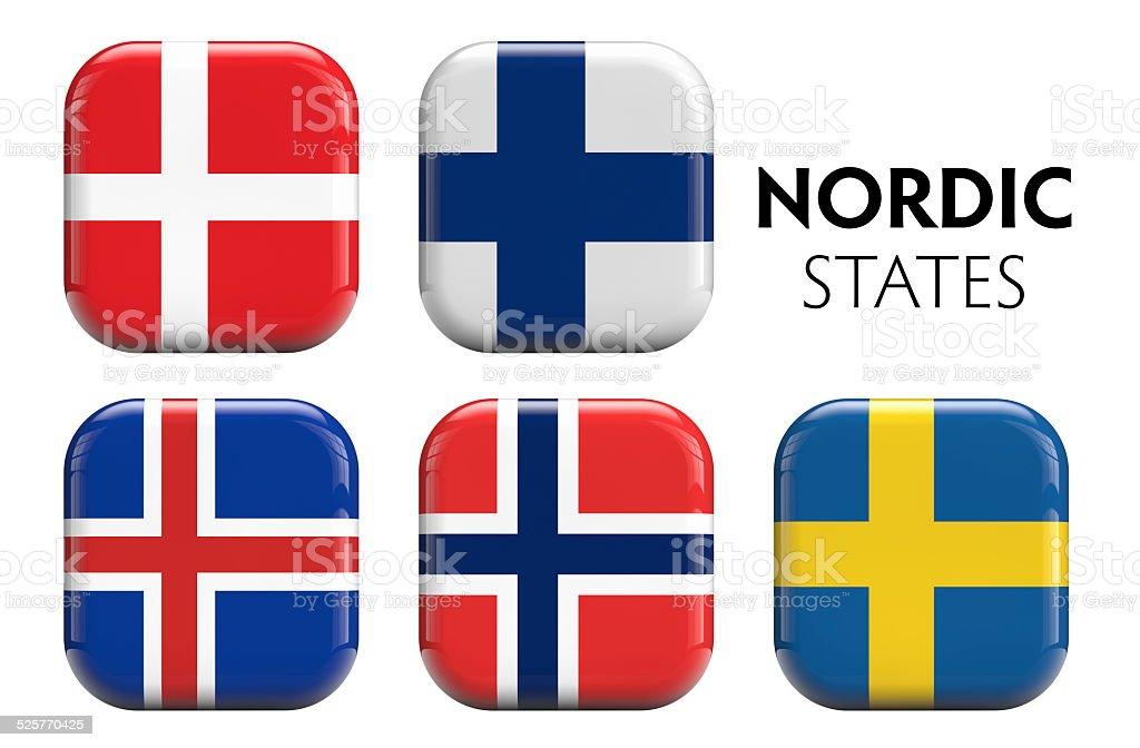 Scandinavian Flags stock photo