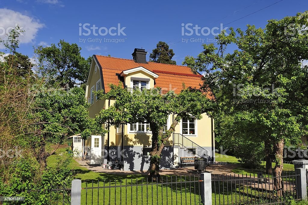 Scandinavian housing royalty-free stock photo