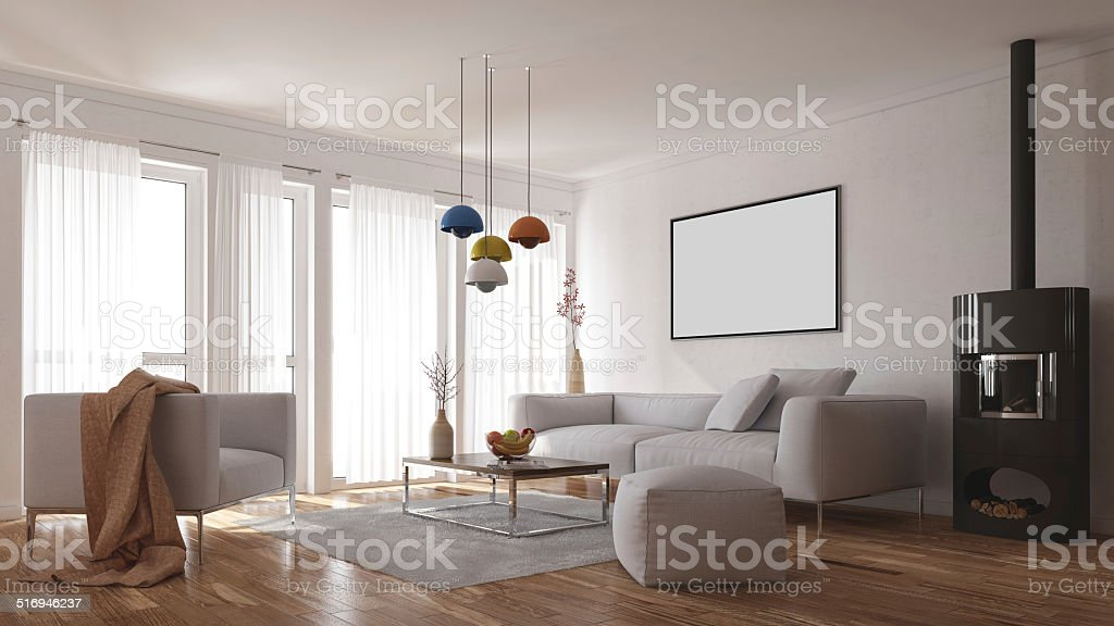 Scandinavian Interior stock photo