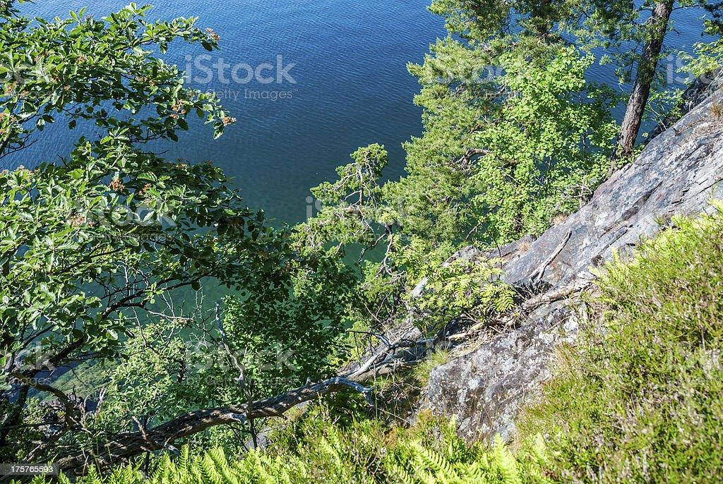 Scandinavian landscape royalty-free stock photo