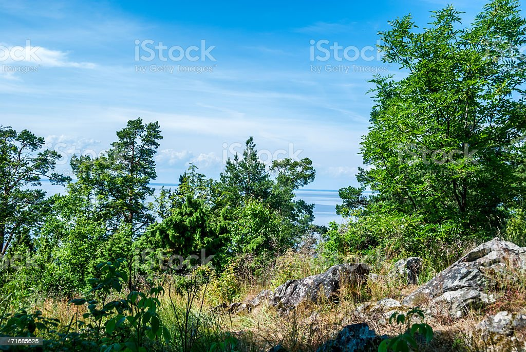 Scandinavian landscape royalty-free stock photo