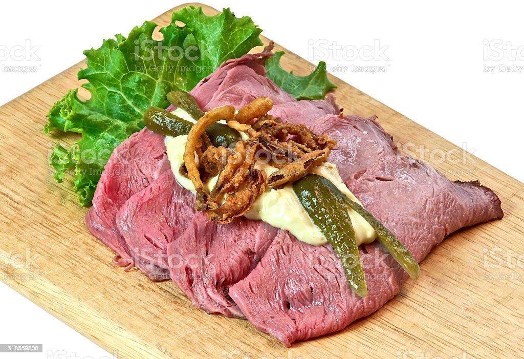 Scandinavian roast beef stock photo