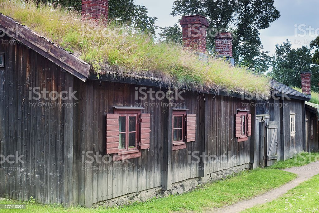 Scandinavian Traditional Cottage stock photo