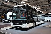 Scania Citywide LE Hybrid on the exposition