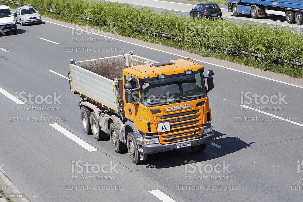 Scania dump truck royalty-free stock photo