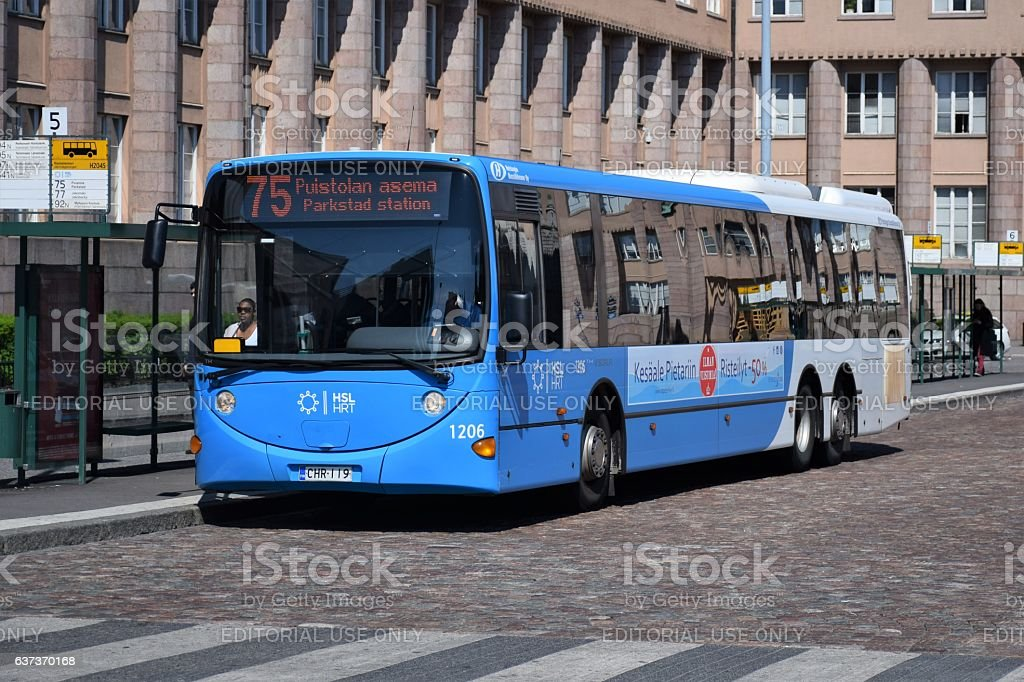 Scania L94UB on the street stock photo