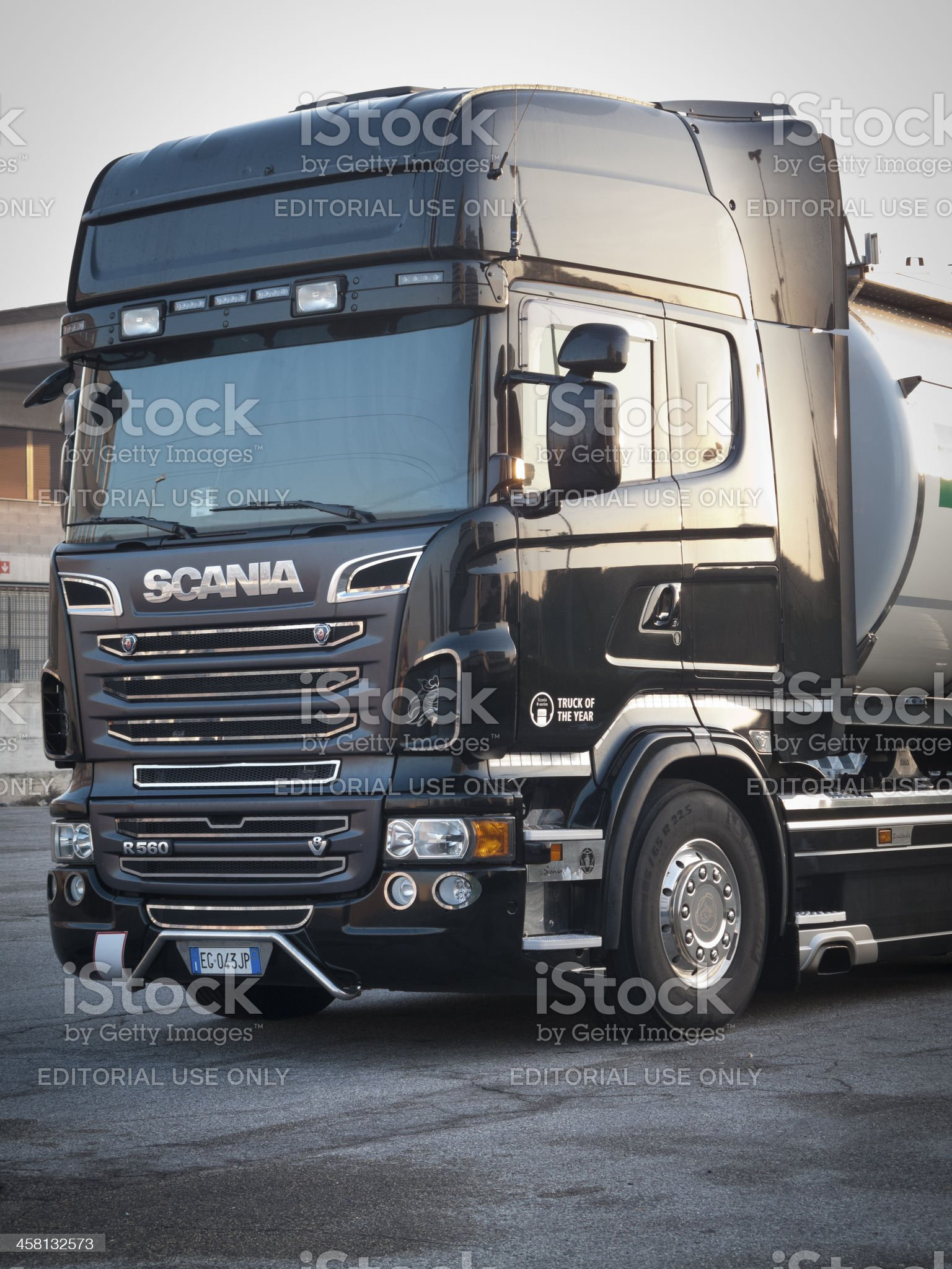 Scania truck tractor royalty-free stock photo