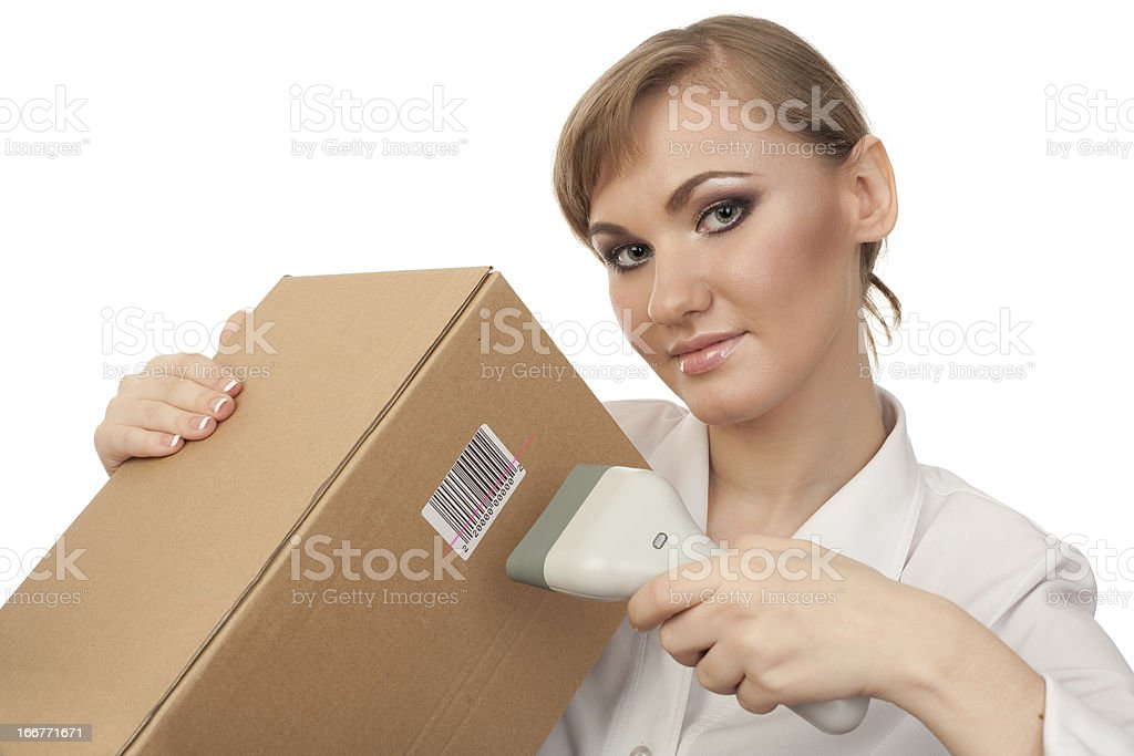 Scaning barcode stock photo
