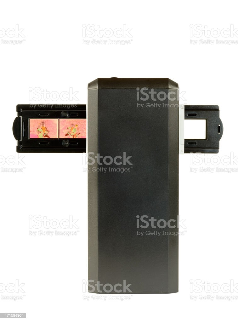 scanner for slides and films stock photo