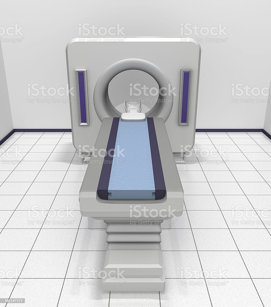 CT Scanner Front View royalty-free stock photo