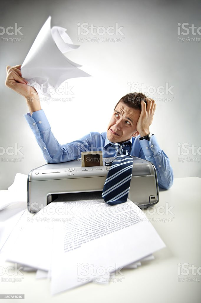 Scanner is out of order stock photo