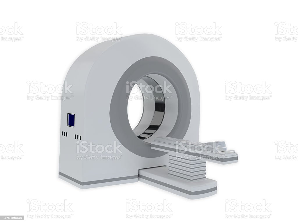 CT scanner isolated on white stock photo