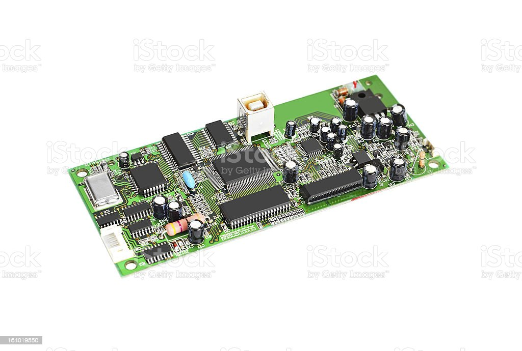 Scanner motherboard board royalty-free stock photo