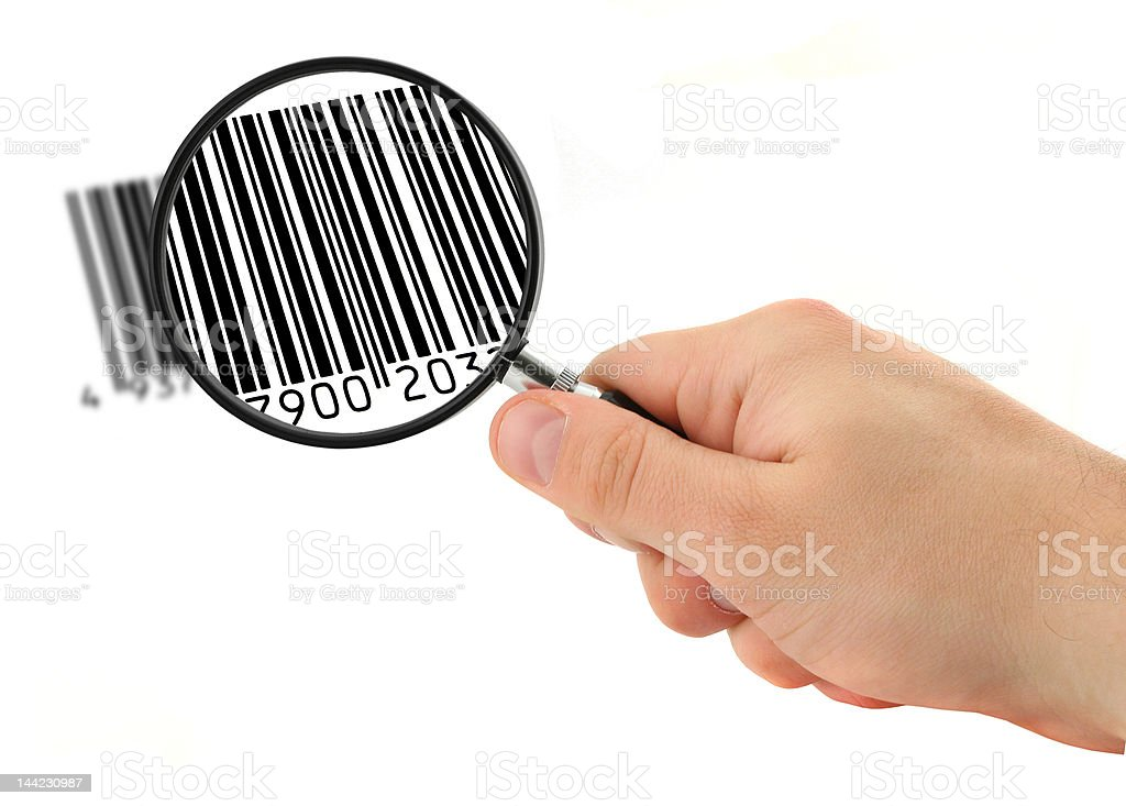 scanning bar code #2 royalty-free stock photo