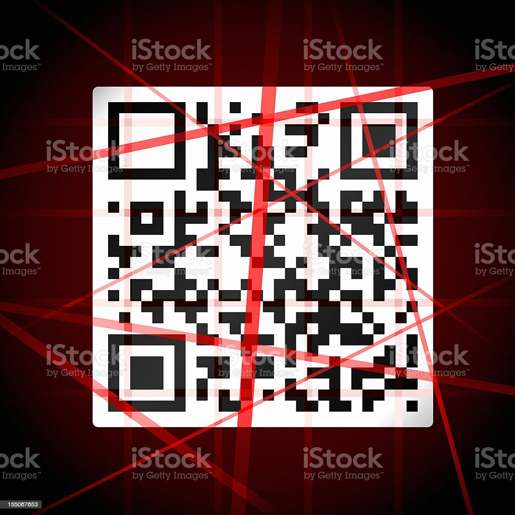 Scanning Barcode Concept royalty-free stock photo