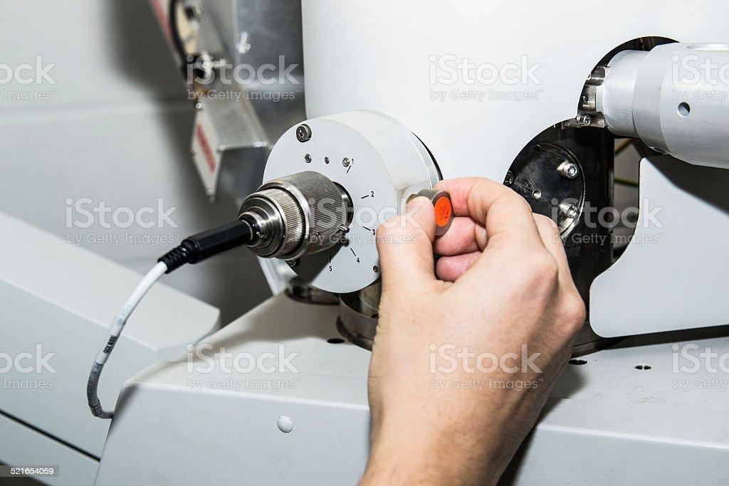 Scanning Electron Microscope Calibration stock photo
