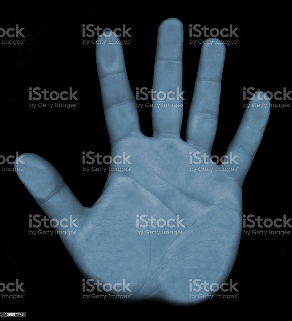 Scanning Hand Biometrics royalty-free stock photo