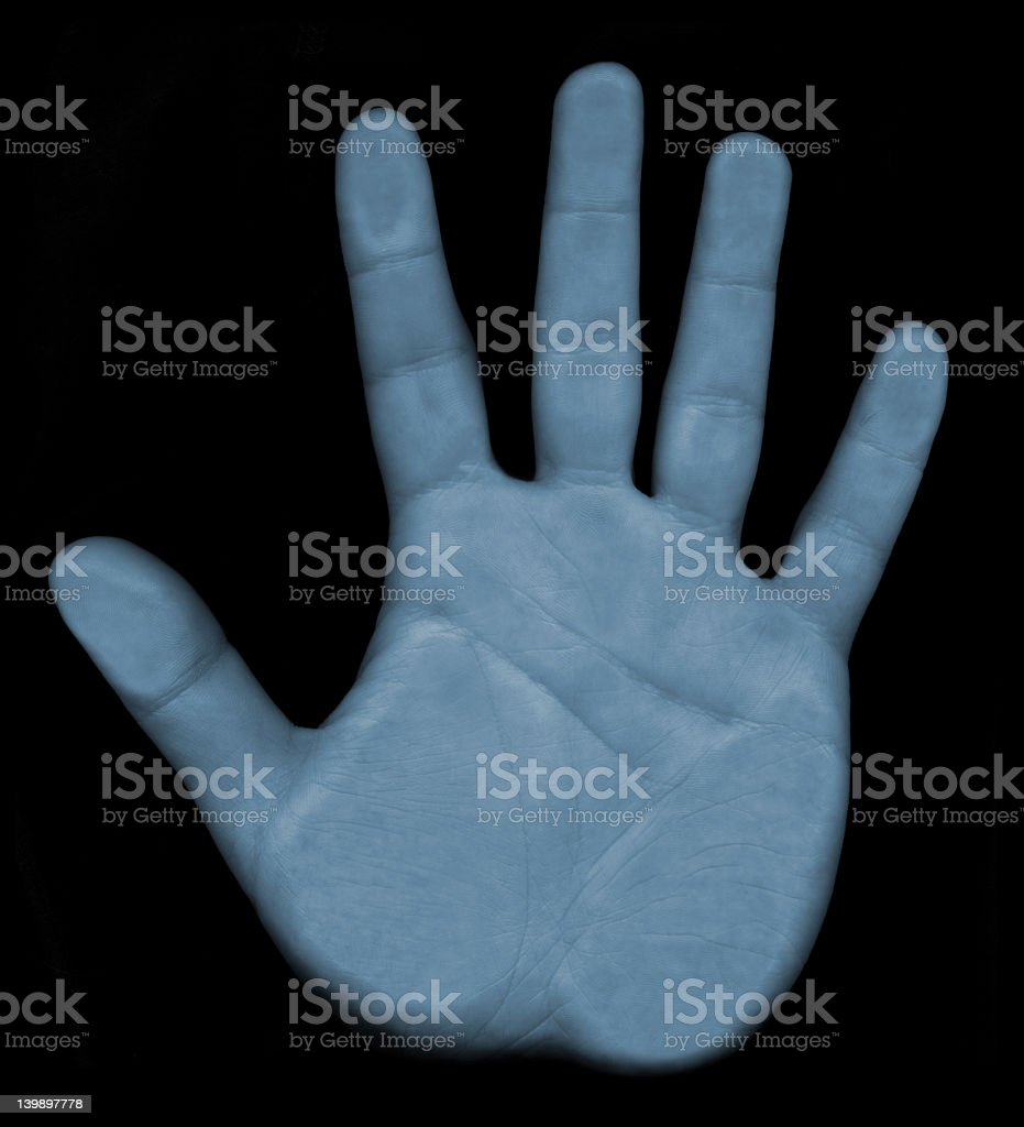 Scanning Hand Biometrics stock photo