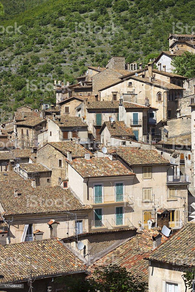 Scanno cityscape,  L'Aquila Province, Abruzzi Italy royalty-free stock photo